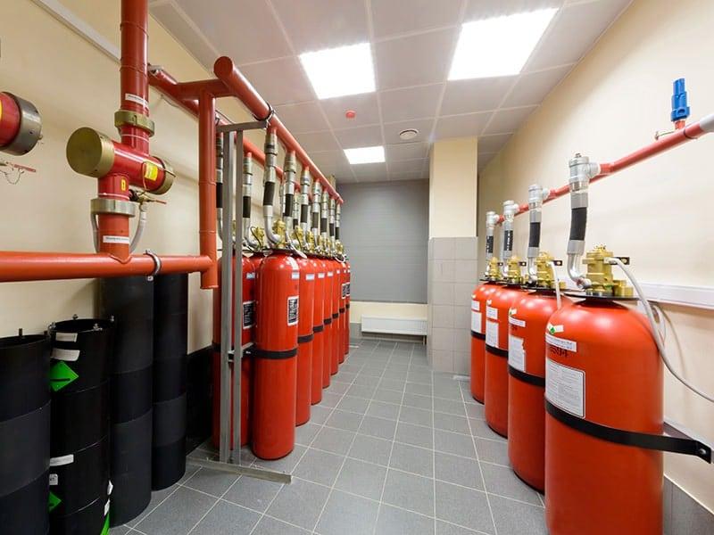 автоматическая система газового пожаротушения фото